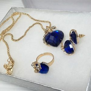 Jewelry - Blue Heart Jewelry Set